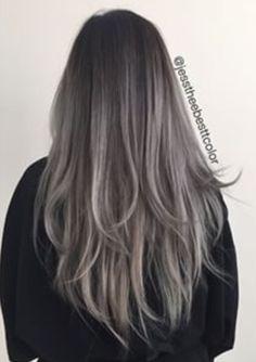 gray balayage hair