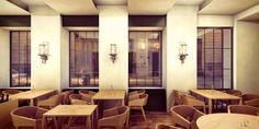 Interior Rendering Visualizations for Restaurant Konstantin Filippou Design by Büro Karré Interior Rendering, Divider, Restaurant, Gallery, Room, Furniture, Design, Home Decor, Bedroom