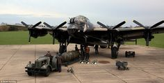 The Lancaster Bombers helped defeat the Hitler war machine during the Second… Navy Aircraft, Ww2 Aircraft, Military Jets, Military Aircraft, Lancaster Bomber, Military Pictures, Ww2 Planes, Royal Air Force, War Machine