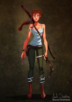 "Disney Halloween: Jane Porter as Lara Croft (Tomb Raider 2013) ""This has become one of my favorites that I've drawn!"""