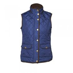 Our beautiful quilted gilets are an ideal mid-season garment. Features include - Patch pockets with flap closing, zip and stud closing and diamond quilting.