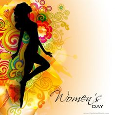 Illustration about Happy Women s Day greeting card or background with silhouette of a girl on beautiful floral decorative background. Illustration of invitation, creative, greeting - 29254596 Women's Day 8 March, 8th Of March, Women's Day Pics, Woman Day Image, World Womens Day, Happy Womens Day Quotes, Women's Day Cards, Cards Diy, World Cancer Day