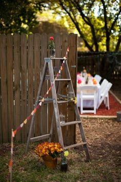 Step-ladders: useful for setting up decorations, and apparently can serve as decorations on their own!