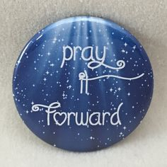 One 2 pinback button Pray It Forward by mostlybears on Etsy Rock Painting Patterns, Rock Painting Ideas Easy, Rock Painting Designs, Paint Designs, Pebble Painting, Pebble Art, Stone Painting, Painting Art, Paintings