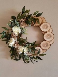 Items similar to Country Wreath Spring wreath cabin wreath wall decor log wreath wreath rustic wreath primitive wreath nature wreath natural wreath on Etsy Holiday Crafts, Christmas Diy, Holiday Decor, Holiday Ideas, Christmas Wreath Decorations, Christmas Decorations Diy Crafts, Wedding Decorations, Spring Decorations, Holiday Wreaths