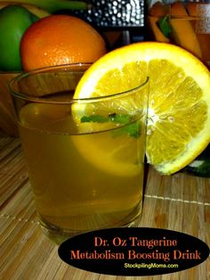 I am in love with this Dr. Oz Tangerine Metabolism Boosting Drink. It tastes so good and is so good for you.  A must pin!