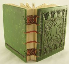 Beautiful polymer clay cover hand made book --- by Geraldine Newfry