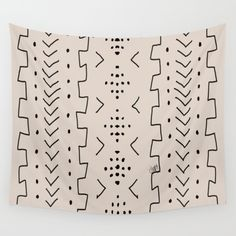 White Mud Wall Tapestry