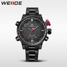 WEIDE Top Quality Electro-plating Black Watches in Bulk, Wholesale Import Watches for Sale LED Wrist Watch WH6402