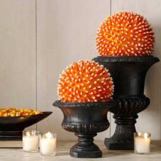 Love this modern Candy Corn Centerpiece