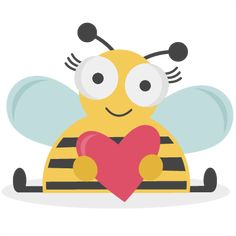 Valentine Bee SVG bundle for scrapbooking cardmaking valentines svg files free svgs cute svg cuts