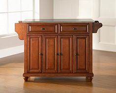 Crosley Furniture Cambridge Stainless Steel Top Kitchen Island Classic Cherry *** Click image for more details.Note:It is affiliate link to Amazon.
