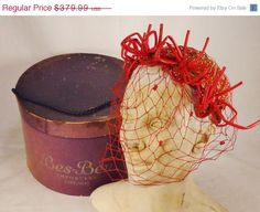 Sale BES BEN Millinery Chicago Hat beaded by vintagevasso on Etsy, $322.99