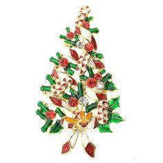 Christmas Tree Christmas Pin Brooch
