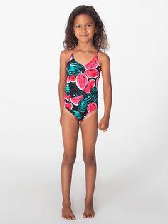 Happy Cherry Toddler Girls Kids Swimsuit One Piece Ruffles Tank Bathing Suit