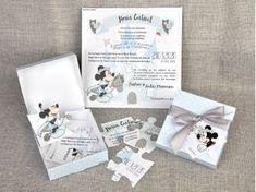 Invitatii botez Colectia Disney - Invitatie botez cutiuta puzzle cu Mickey cod 15707 for only ! Puzzle, Disney, Baby, Puzzles, Riddles, Newborns, Baby Baby, Infants, Disney Art