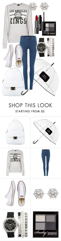 """Last Day of School"" by catherinetabor ❤ liked on Polyvore featuring NLY Accessories, Kate Spade, Topshop, Dr. Denim, Converse, Chopard, H&M, NARS Cosmetics, Winter and converse"