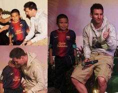 Zacaras oualid y el ftbol con muletas discapacidad pinterest picture messi with disabled boy during meet and greet with fans in peru yesterday pic m4hsunfo Choice Image