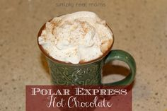 About to christen my new crockpot with this decadent drink! Polar Express Hot Chocolate