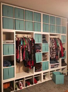 Kallax wardrobe wall dressing room Source by Next Previous Dressing room Ikea Pax walk-in closet wardrobe .Super Ikea hack or pimp your Kallax Ikea Closet Hack, Closet Hacks, Closet Makeovers, Wardrobe Wall, Diy Wardrobe, Closet Wall, Malm Dresser, Bedroom Dressers, Ideas Armario