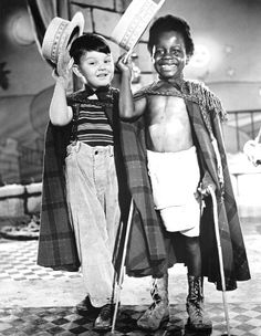 "Little Rascal's Our Gang - Porky and Buckwheat say ""O Tay!"""