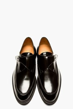 ROBERT GELLER Black Leather Zip-trimmed COMMON PROJECT edition MONK STRAP SHOEs