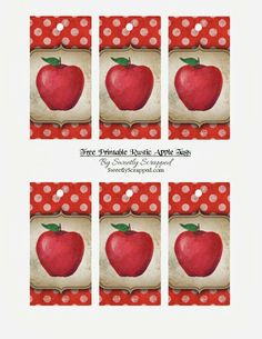 {Free} Printable Rustic Apple Hang Tags