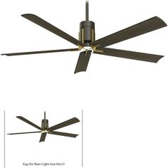 Minka Aire Clean Matte Black/Brushed Nickel LED Ceiling Fan with Remote Control Ceiling Fans Without Lights, 60 Ceiling Fan, Ceiling Fan With Remote, Led Ceiling, Modern Ceiling Fans, Living Room Fans, Brushed Nickel Ceiling Fan, Modern Fan, Minka