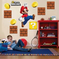 Super Mario Brothers Giant Wall Decals