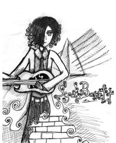"Syd Barrett of Pink Floyd 1946-2006 may he rest in peace reletively old art there is an error in this drawing. i drew the symbols for the albums ""Dark Side of the Moon"" and ""The Wall"" both of which..."