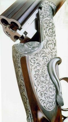 Shot Gun. Gorgeous! ~ it looks like a 4 barreled drilling! Very rare!