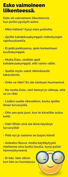 Vitsit: Esko oli vaimoineen liikenteessä - Kohokohta.com