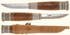 Hand Forged Reindeer knife by Veikko Hakkarainen.