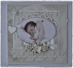 Velkommen inn: Babykort i duse farger:)