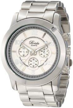 Breda Women`s 2308-Silver Jordan Oversized Boyfriend Silver Watch $37.80
