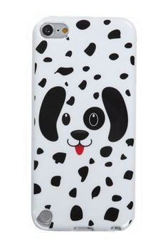 $6 Slim Fit Flexible Jelly Rubber Graphic Case for iPod Touch 5th Generation - Dotted Dalmatian