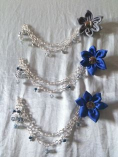 Flower and chain hijab pin