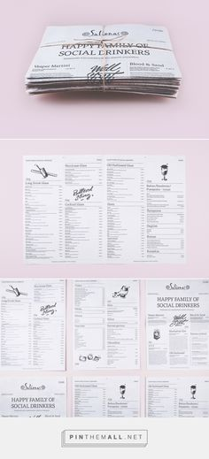 Andstudio » Newspaper menu... - a grouped images picture - Pin Them All