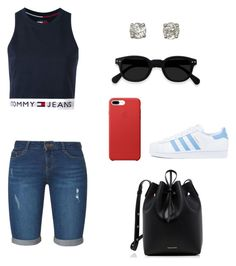 """""""Untitled #253"""" by xolafkax on Polyvore featuring Tommy Hilfiger, Dorothy Perkins, adidas and Mansur Gavriel"""