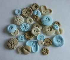 Oooh! Edible vintage style buttons – cupcake toppers | trueblue268, Ebay