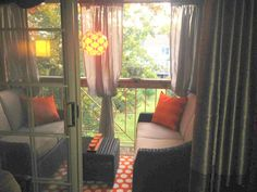 Balcony decorating for small spaces