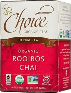 Choice Organic Teas Tea Og2 Rooibos Chai 16 Bag >>> Want additional info? Click on the image. (This is an affiliate link and I receive a commission for the sales) #ChaiTea