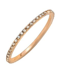 diamond and rose gold ring.
