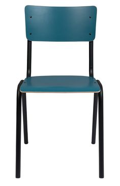 Zuiver - Back to school Spisebordsstol - Matt petrol Back To School, Chair, Furniture, Home Decor, Products, Decoration Home, Room Decor, Home Furnishings, Stool
