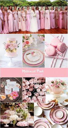 Decoração de Casamento : Paleta de Cores Millenial Pink