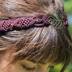 Headband artisanal en macramé                                                                                                                                                     More