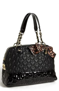 Betsey+Johnson+Handbags+ +Betsey+Johnson+Will+You+Be+Mine+Dome+Shoulder+Bag+in+Black