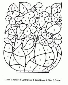 Color By Number Coloring Pages Diego Color By Numbers Coloring