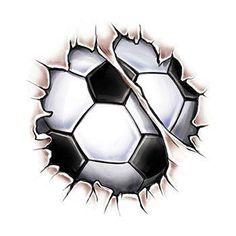 Break Through Soccer Ball Tattoo Soccer Tattoos, Football Tattoo, Black And White Painting, Black And White Abstract, Soccer Art, Soccer Logo, Marcelo Tattoo, Mago Tattoo, Football Logo Design