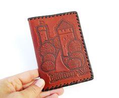 Leather Notebook Cover Estonian Note Book Tallinn by MerilinsRetro